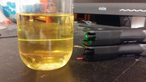 olive oil fluorescence
